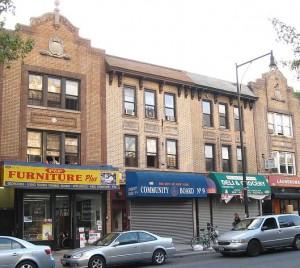 Brooklyn neighborhood. Photo by Jim Henderson, WC public domain.