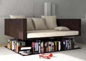 bookshelf under daybed metapicture